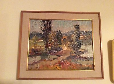 Original Signed Oil Painting By Valdi S. Maris Listed New Jersey Artist