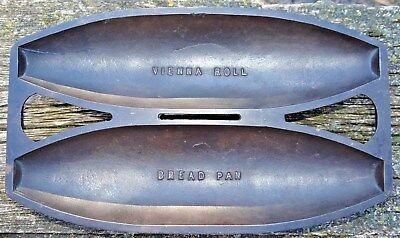 RARE Griswold Cast Iron 956 #2 Vienna Roll Bread Pan Vtg Antique
