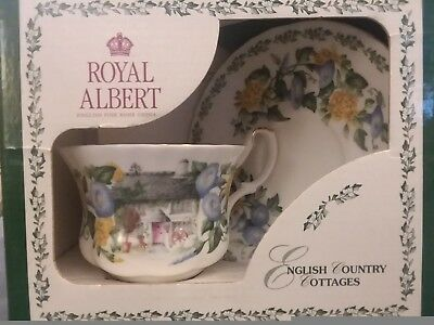 Royal Albert English Country Cottages CUMBRIA Teacup and Saucer New In Box