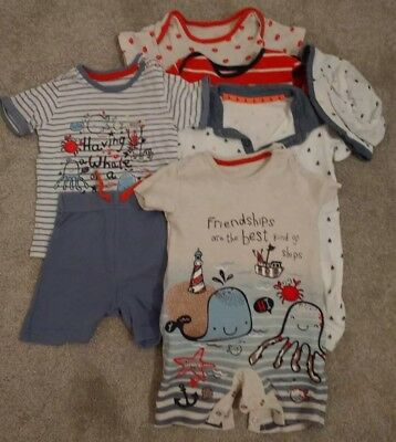 George Asda Baby All In Ones Holiday Bundle 6-9 & 9-12 Months Baby Boy clothes