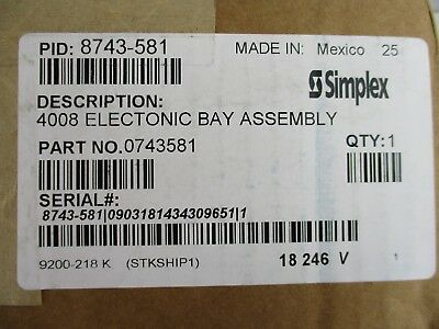 (New) Simplex 8743-581 - 4008 Electronic Bay Assembly