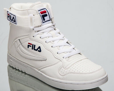 FILA FX100 MID Top Men's Lifestyle Shoes White Blue 2018 Sneakers  1010416-1FG