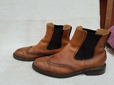 760a284cacbfd9 Chelsea Boots Leder Stiefeletten Herren Stiefel Budapester Muster Gr.44