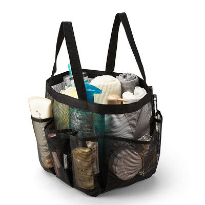 Portable Mesh Shower Caddy Bag Fast Drying Shower Hanging Bag Toiletry Organizer