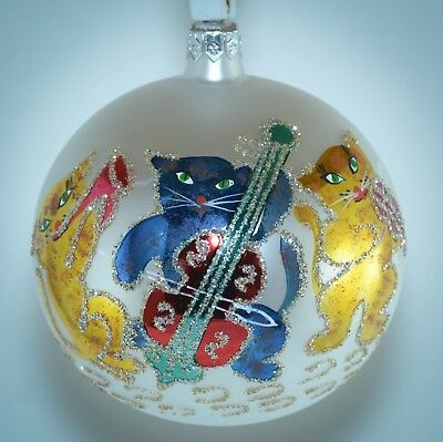 Christopher Radko Christmas Ball Ornament PAPA'S JAMBOREE Cat Play Sheet Music