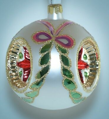 Christopher Radko Christmas Ornament TRIPLE REFLECTOR BALL