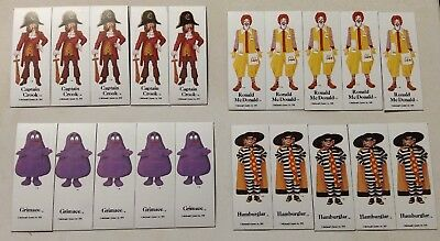 Lot of 20 Vintage 1982 McDonalds Magnets Ronald,Grimace,Hamburglar,Captain Crook