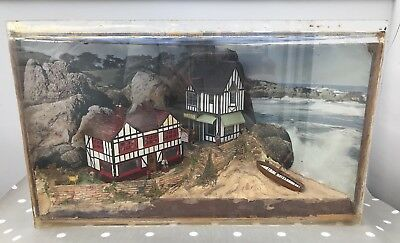 Vintage Model Seaside Village Diorama - Museum Display Piece ?