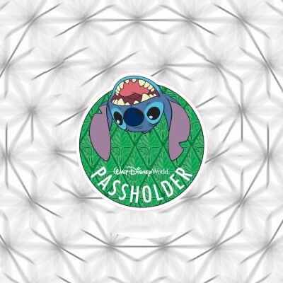 DISNEY Window Sticker Stitch 2018 Like Passholder Magnet