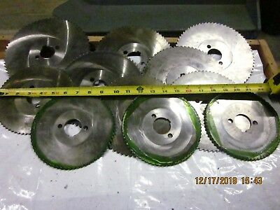 "LOT OF 11 Horizontal Milling Machine Slitting saw Cutters ,1-1/4"" Arbor Hole"