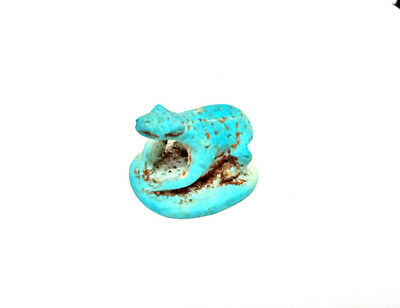 Heqet Goddess of childbirth and fertility Amulet Faience Egyptian Antiquity Frog