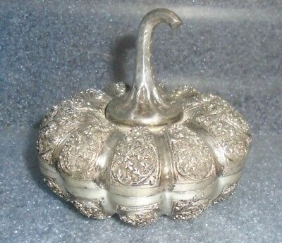 fine Chinese sterling silver gourd box