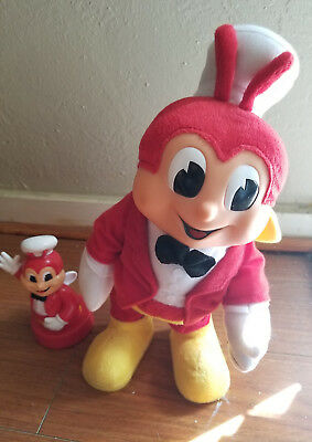 "Singing & Dancing Jollibee Doll Plush Toy 12"" Tall Us Seller & Coin Bank"