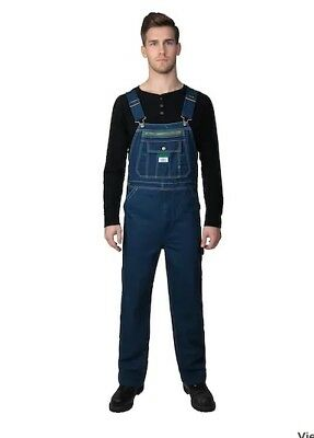 Nwt Original Relaxed Fit Liberty Bib Overalls Washed Denim 36X32 Hee-Haw Famous