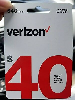 $40 Verizon Wireless Prepaid Refill Card NEW (fast email delivery)