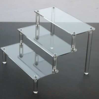 Clear Acrylic 3-5 Tier Display Shelf Showcase for Action Figure Toy Cosmetic New