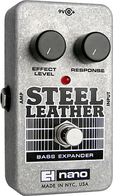 EHX Electro-Harmonix Nano Steel Leather Attack Expander Bass Effects Pedal