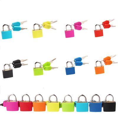 8 Colors Small Padlock With Two Keys Travel Suitcase Luggage Security Locks