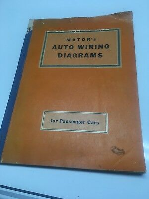 Motor's Auto Wiring Diagrams For Passenger Cars 1941-52