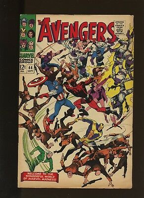 Avengers 44 FN+ 6.5 * 1 Book Lot * Marvel! 1967! The Valiant Also Die! Black!