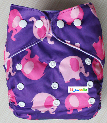 Baby Boy Girl Cloth Diapers One Size Newborn Adjustable Nappy Pocket Cover K07