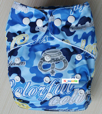 Baby Boy Girl Cloth Diapers One Size Reusable Adjustable Nappy Pocket Cover K06
