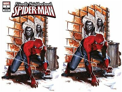 Friendly Neighborhood Spider-Man 1 Dell'otto Virgin Variant Set Nm Presale