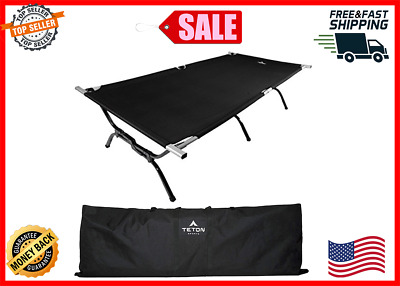 TETON Sports Outfitter XXL Camping Cot Adult Camping Cots Folding Cot Bed NEW