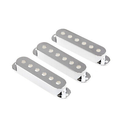 3Pcs Chrome Plastic 52mm Single Coil Pickup Cover For Strat ST Electric Guitar