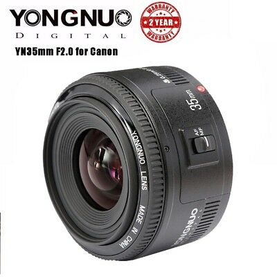 Yongnuo YN 35mm F2 Auto Focus Wide Angle Large Aperture Prime Lens For Canon EOS