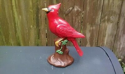 "Vintage Red Bird Figurine Holland Mold , Hand Painted  8 1/4"" Tall"