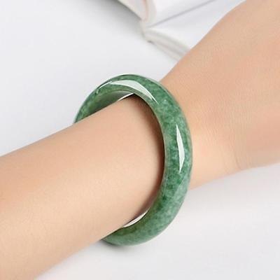Chinese Beautiful Genuine Natural Green Jade Gems Bangle Bracelet Beauty