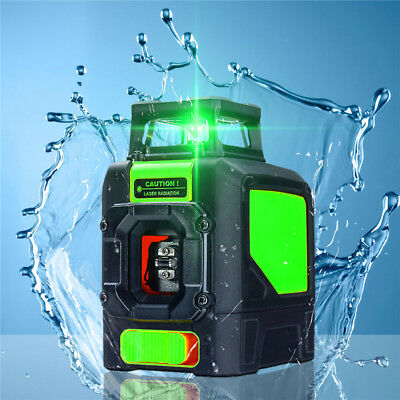 5 Line Laser Level 360 ° Rotary Auto Self Leveling Vertical Horizontal Green
