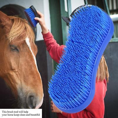 Dust Dirt Remove Tool Silicone Horse Grooming Brush  Equestrian Cleaning Access