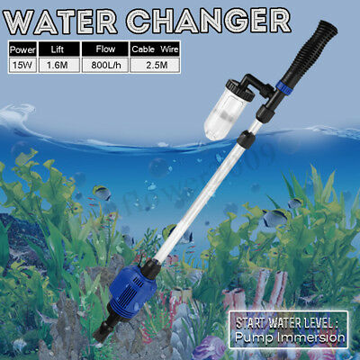 15W Aquarium Cleaner Electric Water Changer Gravel Sand Washer for Fish Tank