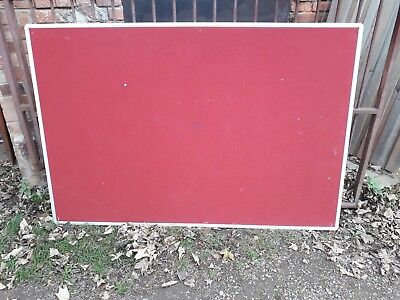 Large Red Felt Notice Board 180Cm X 121Cm - Used