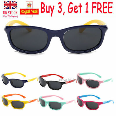 Kids Polarized Sunglasses 100% UV400 Cute Outdoor Shades Glasses for Boys Girls