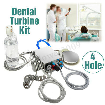 Dental Portable Air Turbine Unit With Water Bottle 4 Holes Stainless Steel