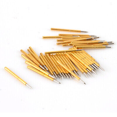 100Pcs P75-B1 Dia 1.02mm 100g Cusp Spear Spring Loaded Test Probes Pogo Pins DIY