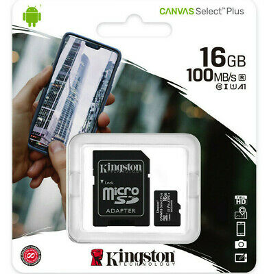 Kingston 16GB micro SD Karte SDHC Class 10 UHS-I 80MB/s Speicherkarte DE/OVP
