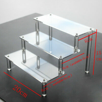 Clear Acrylic 3-5 Tier Display Shelf Showcase Action Figure Toy Cosmetics Modern