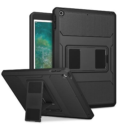 "MoKo Heavy Duty Full Body Rugged Hybrid Cover Stand Case for iPad 9.7"" 2017/2018"