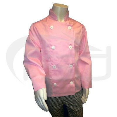 Pink - Kids Chef's Jacket / Childs Chef Coat (Various Ages)