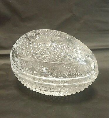 Vintage 1977 Avon Mother's Day Fostoria Lead Crystal Egg Soap/Candy/Trinket Dish