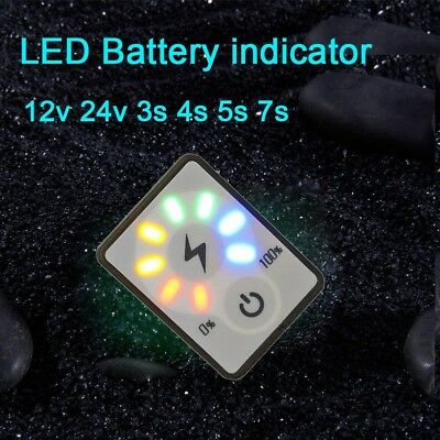 Battery dc 12V 24V 2S 3S 4S 5S 6 7S Lead-acid Capacity LED Indicator display