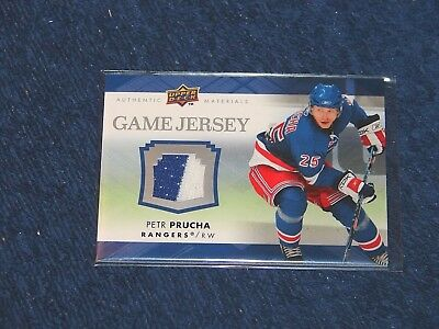 Petr Prucha New York Rangers 2007-08 Upper Deck Game Jersey #Gj2Pp (H-293)