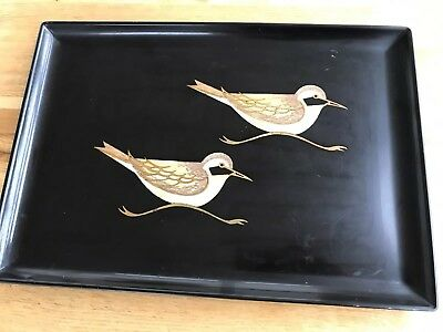 Black Couroc Bird Tray Authentic
