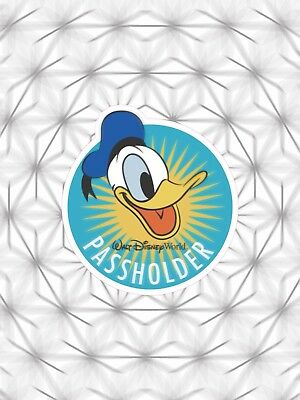 DISNEY Window Sticker DONALD PassHolder 2018 Like Magnet