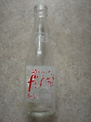 Vintage Anchor Hocking Fitz's Soda Pop Bottle Beverages 8556A 5 63 76 MAINE