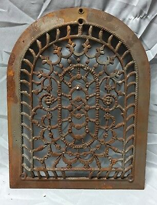 One Antique Arched Top Heat Grate Grill Floral Decorative Arch 11X14 654-18C